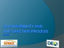 Accountability and the sanction process