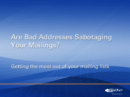Getting the most out of your mailing lists