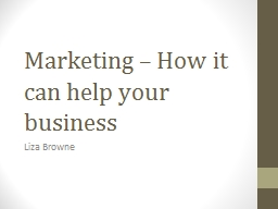 Marketing � How it can help your business