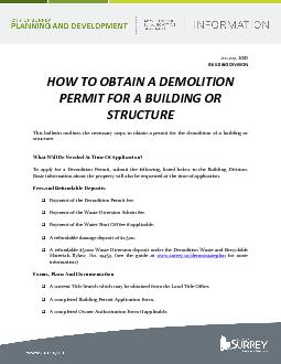 How to obtain a demolition permit for a building or structure