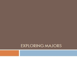 exploring college majors