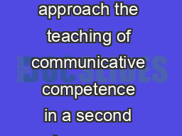 Jornades de Foment de la Investigaci POLITENESS AND TEXTBOOKS how to approach the teaching of communicative competence in a second language Autor Soledad Moreno Pichastor Filologia Anglesa  Politenes