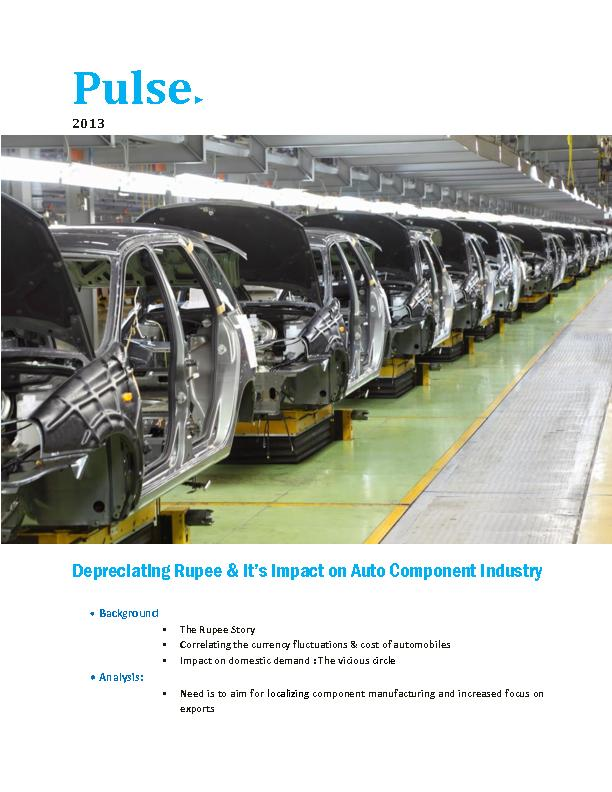 Depreciating Rupee and  It's Impact on Auto Component Industry...
