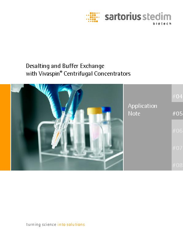 ��Desalting and buffer exchange with Viva spin centrifugal Concentrators