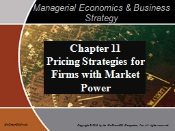 Managerial Economics & Business Strategy