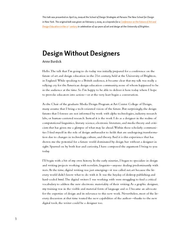 Design without designers