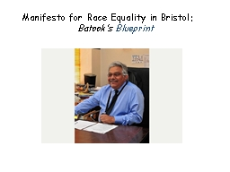 Manifesto for Race Equality in Bristol: