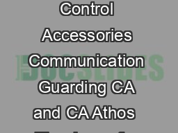 Smart GSMGPS car alarms User manual Control Accessories Communication Guarding CA and CA Athos  Thank you for purchasing our product