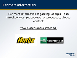 Rental Car Agreements for Employee Travel April   State of Georgia DOAS mandatory rental car contracts for employees on official Institute travel Rental Location Contract Vendor CDP  Georgia Hertz PowerPoint PPT Presentation