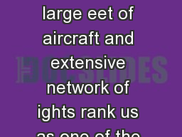 AIRNET EXPRESS ANX AirNet Cargo Charter Services large eet of aircraft and extensive network of ights rank us as one of the nations largest express cargo airlines