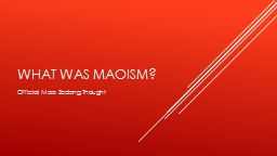 What was Maoism?