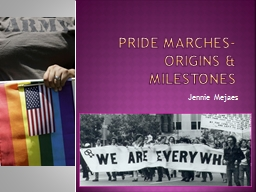 Pride marches- origins & milestones