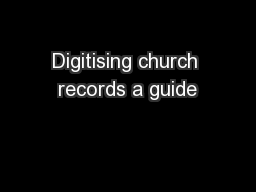 Digitising church records a guide