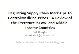 Regulating Supply Chain Mark-Ups to Control Medicine Prices