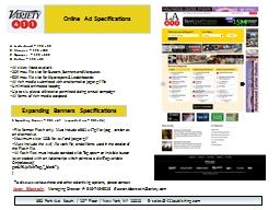 Online Ad Specifications PowerPoint PPT Presentation