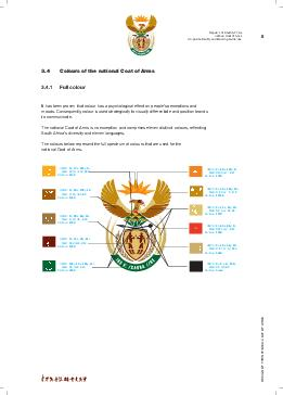 Colours of the national Coat of Arms
