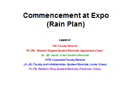 Commencement at Expo (Rain Plan)