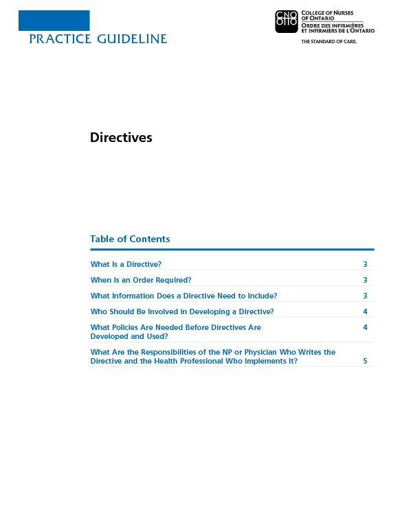 Table of ContentsWhat Is a Directive?When Is an Order Required? What I