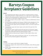 Harveys Coupon Acceptance Guidelines See your local Harveys store for more details