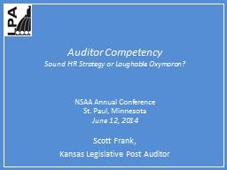 Auditor Competency PowerPoint PPT Presentation