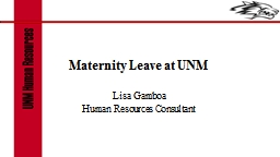 Maternity Leave at UNM