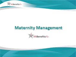 Maternity Management