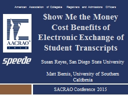 $how Me the Money Cost Benefits of Electronic Exchange of S