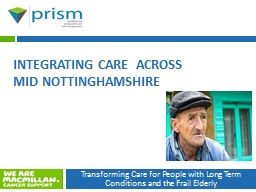 Integrating Care  across Mid Nottinghamshire