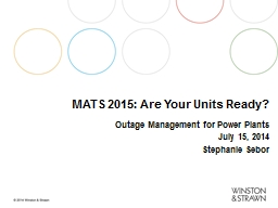 MATS 2015: Are Your Units Ready?