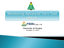 Monitoring Advanced Tiers Tool