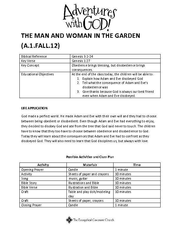 THE MAN AND WOMAN IN THE GARDEN