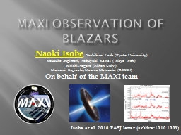MAXI observation of PowerPoint PPT Presentation