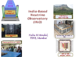 India-Based Neutrino Observatory PowerPoint PPT Presentation