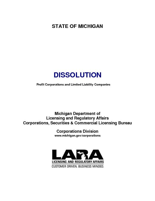 Profit corporations and limited liability companies