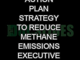 CLIMATE ACTION PLAN STRATEGY TO REDUCE METHANE EMISSIONS EXECUTIVE SUMMARY Reduc