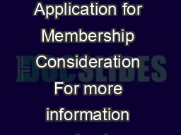 The United States Disc Jockey Association Application for Membership Consideration For more information about completing this form visit www