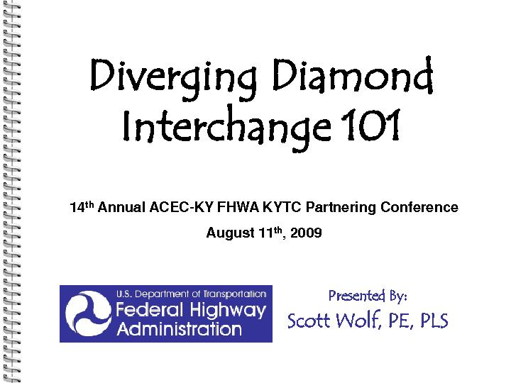 Diverging Diamond interchange 101