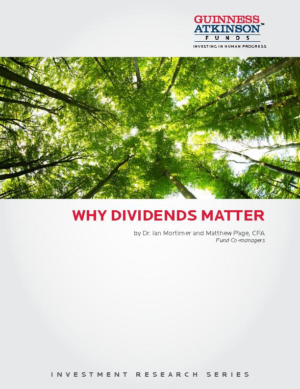 INVESTMENT RESEARCH SERIESWHY DIVIDENDS MATTERINVESTING IN HUMAN PROGR