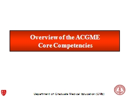 Overview of the ACGME