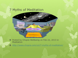 7  Myths of Meditation