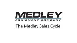 The Medley Sales Cycle