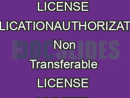 Department of Alcoholic Beverage Control DAILY LICENSE APPLICATIONAUTHORIZATION  Non Transferable LICENSE NUMBER GEO CODE RECEIPT NUMBER FEE