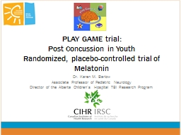 PLAY GAME trial: PowerPoint PPT Presentation