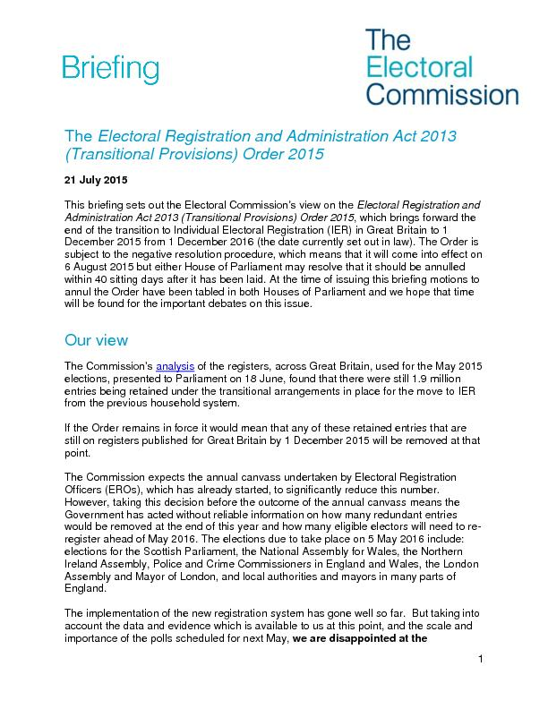 Electoral Registration and Administration Act 2013