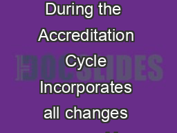 C  CRITERIA FOR ACCREDITING COMPUTING PROGRAMS Effective for Reviews During the  Accreditation Cycle Incorporates all changes approved by the ABET Board of Directors as of October   Computing Accredi