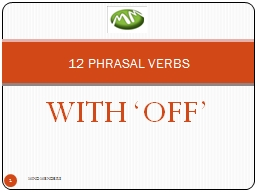 WITH 'OFF' PowerPoint PPT Presentation