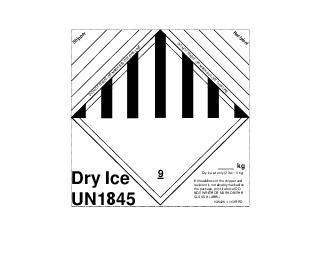 Dry Ice UN  If the address of the shipper and recipient is not durably marked on
