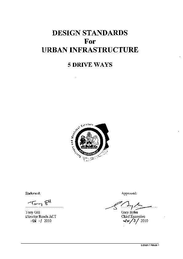 Design Standards for Urban Infrastructure