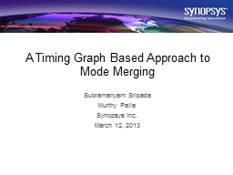 A Timing Graph Based Approach to Mode Merging