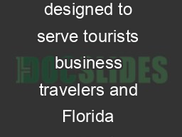 An xpress Intercity Passenger Rail Service Arriving in Fall  A project designed to serve tourists business travelers and Florida residents Connecting Miami and Orlando in just under three hours with
